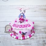 Tort z króliczką Koko i bohaterami bajki Bing