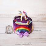 Tort zdobiony tęczą My Little Pony Księżniczka Celestia