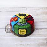 Tort 4 superbohaterów - Batman Spiderman Hulk Superman