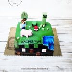 Tort inspirowany grą Minecraft