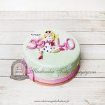 Tort na 40 urodziny dla kobiety