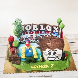 Tort Roblox Cukiernia Pod Arkadami Torty Na Zamowienie
