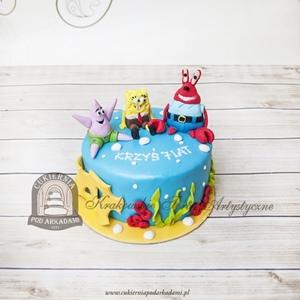 Tort SpongeBob Kanciastoporty Pan Krab i Patryk Rozgwiazda