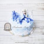 Tort FROZEN 2 - Elsa Nokk i Bruni w zimowej scenerii