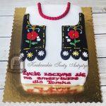 Tort z krakowskim gorsetem i koralami