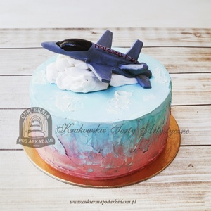 Tort z wojskowym samolotaem myśliwcem F20
