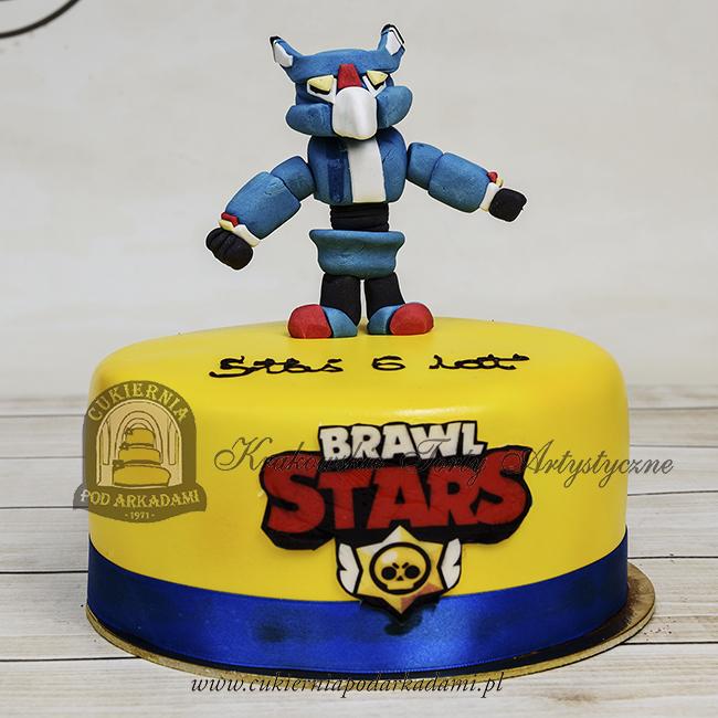 Tort z figurką Mecha Crow z gry BRAWL STARS blog