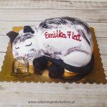 Tort w kształcie śpiącego kota blog