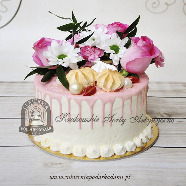 329BA Drip-cake-z żywymi-kwiatami-cukiernia-pod-arkadami